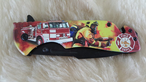 FIRE FIGHTER COMMEMORATIVE POCKET KNIFE