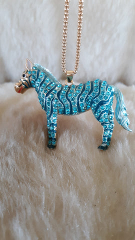 BETSEY JOHNSON RHINESTONE ZEBRA 3D Necklace