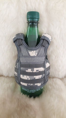 TACTICAL MINI VEST SODA/BOTTLE COOLER-CAMO