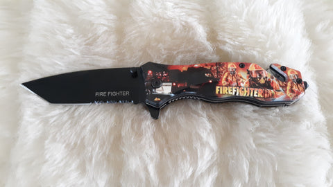 FIRE FIGHTERS IN ACTION POCKET KNIFE