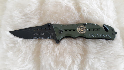 MILITARY SNIPER TACTICAL RESCUE POCKET KNIFE
