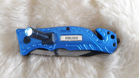 POLICE LED TACTICAL RESCUE KNIFE-NEW