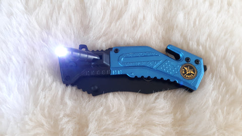 U.S. AIR FORCE LED TACTICAL RESCUE POCKET KNIFE