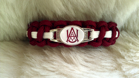 NCAA ALABAMA  A & M BULLDOGS PARACORD BRACELET