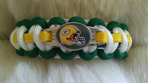 NFL GREEN BAY PACKERS PARACORD BRACELET-CHOOSE SIZE