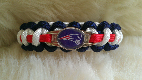 NFL NEW ENGLAND PATRIOTS PARACORD BRACELET-CHOOSE SIZE