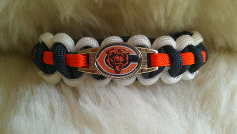 NFL CHICAGO BEARS PARACORD BRACELET-CHOOSE SIZE
