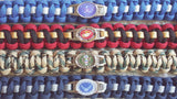 ARMY-AIR FORCE-MARINES-NAVY PARACORD BRACELET