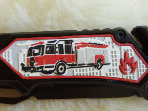 FIRE FIGHTER Tactical Rescue Knife-New