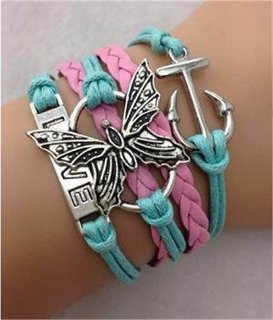 Infinity Bracelets-Butterfly-Love-Ballerina-Giraffe-Nautical-One Direction-Hearts-Choose Style