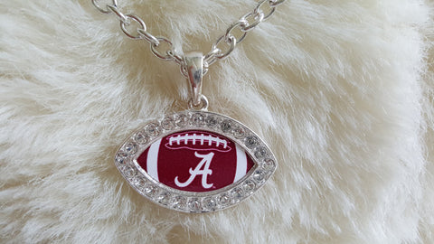 ALABAMA FOOTBALL Crystal Rhinestone Necklace-New