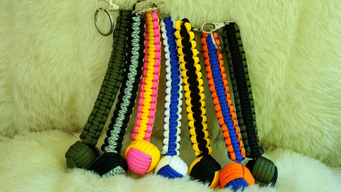 Monkey Fist SELF DEFENSE Paracord Keychain-CHOOSE COLOR