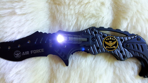 U.S.  AIR Force Karambit with LED Tactical Knife-New