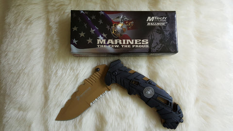 MARINES TACTICAL Survival Knife-New