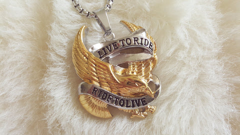 MOTORCYCLE 3D NECKLACE