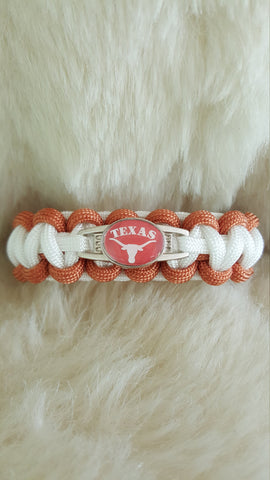 NCAA Texas Longhorns Paracord Survival Bracelet