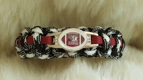 ALABAMA FOOTBALL Hounds Tooth Paracord Bracelet-Choose Size