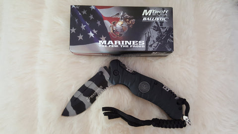 MARINES TACTICAL Rescue Knife-Urban Camo-New
