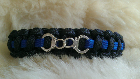 Police Thin Blue Line Paracord Survival Bracelet