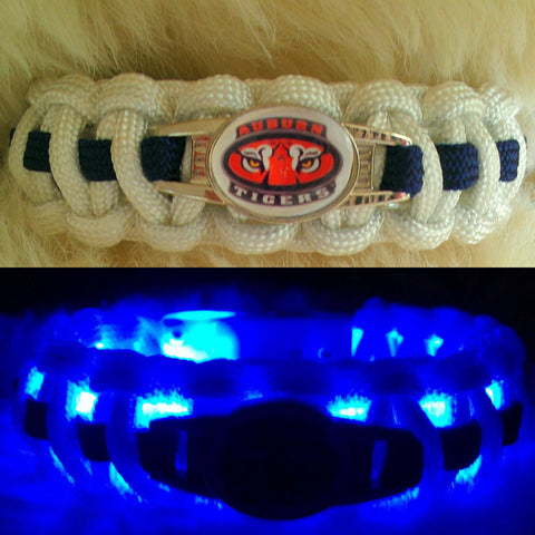 "Auburn Tigers ""Light Up"" Paracord Survival Bracelet"