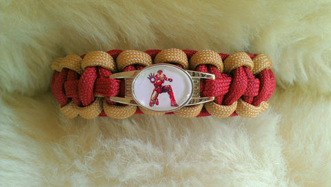 Iron Man Paracord Survival Bracelet-Choose Size
