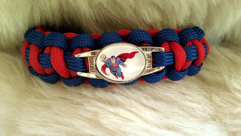 Superman Paracord Survival Bracelet-Choose Size