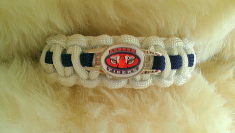 Auburn Tigers Paracord Survival Bracelet-Choose Size