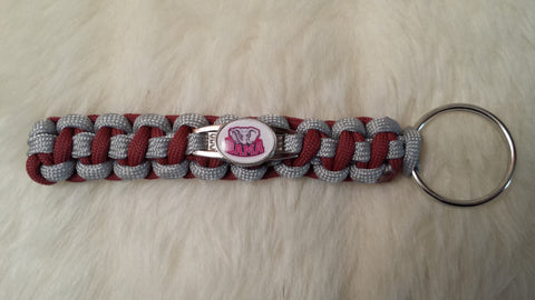 ALABAMA CRIMSON TIDE PARACORD KEYCHAIN
