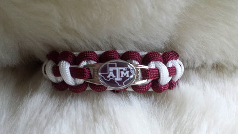 NCAA Texas A & M Aggies Paracord Bracelet-Choose Size