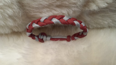 Alabama Flat Braid (3 Strand Adjustable) Paracord Bracelet
