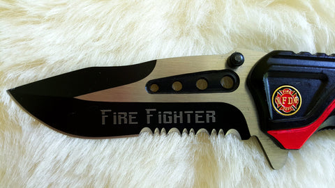 FIRE FIGHTER Rescue Knife-New
