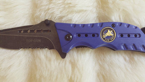 "U.S. AIR FORCE ""Top Gun"" TACTICAL RESCUE POCKET KNIFE"