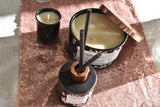 3-Wick Black Glass 'Spiced Orange' Scented Scented Candle