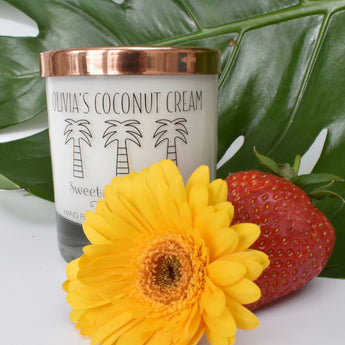 Coconut Cream Scented Personalised Luxury Handmade Candle