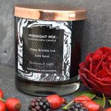 Midnight Mix Luxury Black Glass Scented Candle