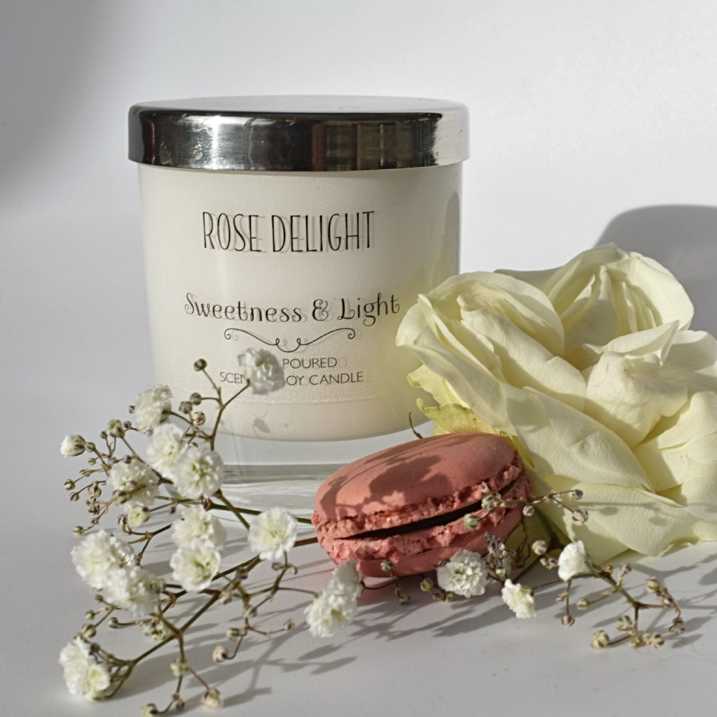 Rose Delight Luxury Scented Candle | Personalise for your home