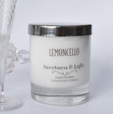 Large Glass Personalised Scented Candle with Silver Lid