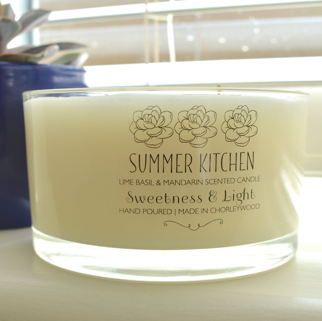 3-wick Luxury Summer Scented Candle | Personalise for gifts