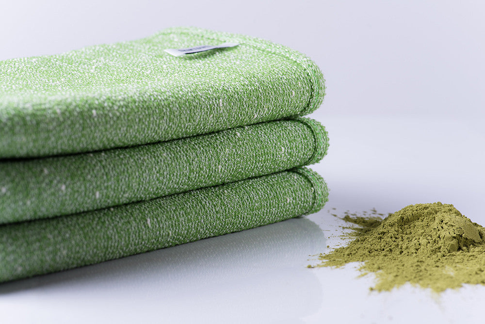 Exfoliating Skin care tools Green Tea Shower cloth