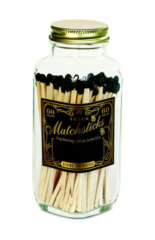 Matches Bottle - Black & Gold