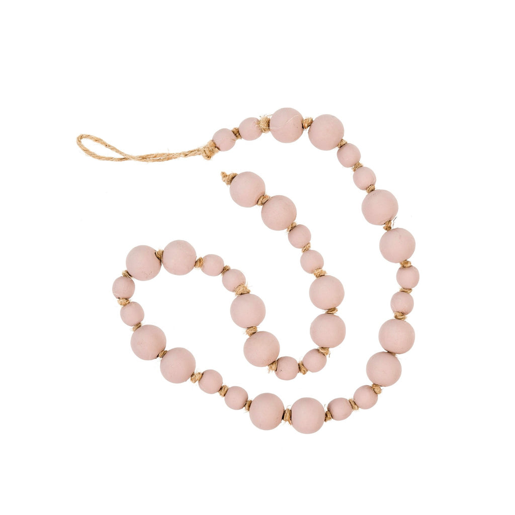 Wooden Prayer Beads, Blush