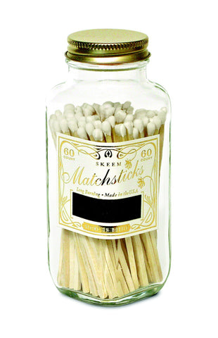 Matches Bottle - White & Gold