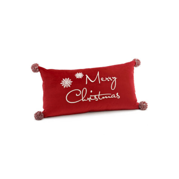 Red Velvet Merry Christmas Pillow