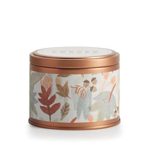 Copper Leaves Tin Candle