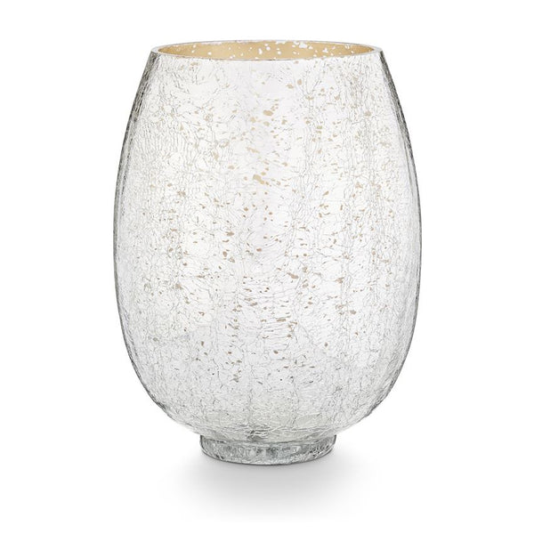 Balsam & Cedar Candle - Large Crackle Glass