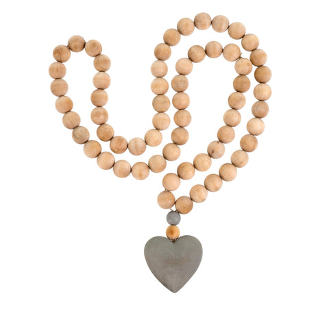 Heart Wooden Prayer Beads, Large