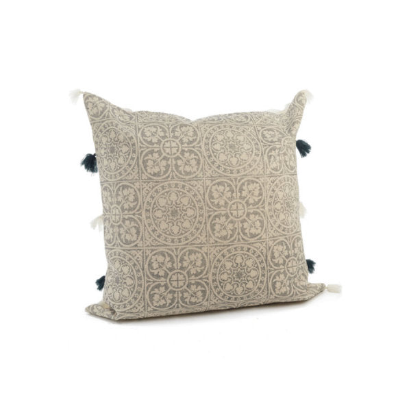 Jumbo Pillow - Blue & Ivory