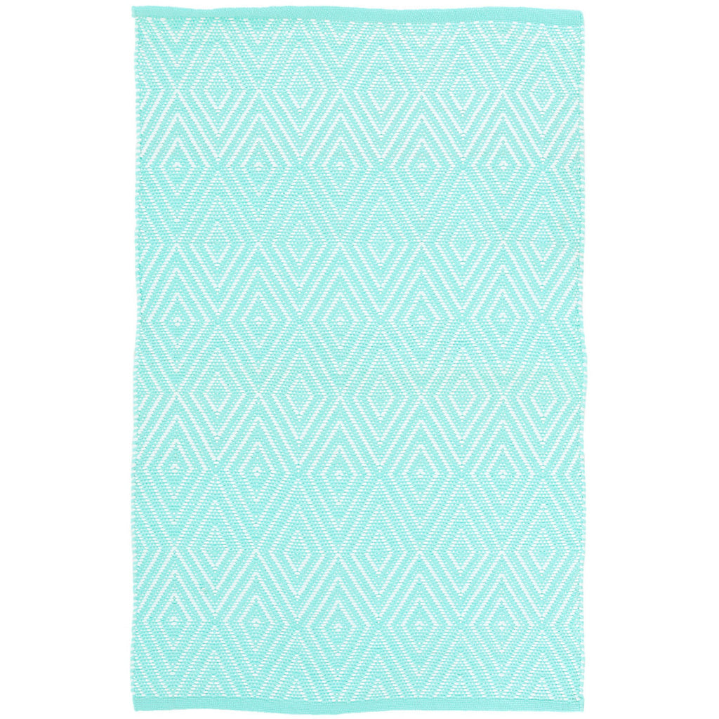 Dash & Albert - Diamond Aqua/White Indoor/Outdoor Rug
