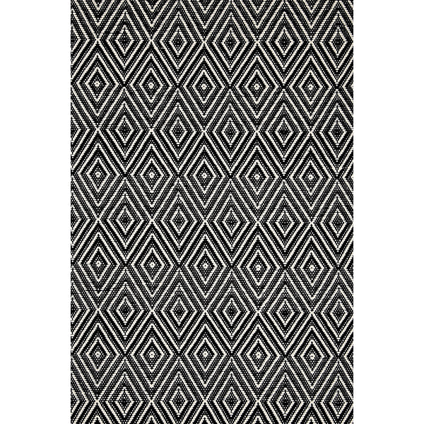Dash & Albert - Diamond Black/Ivory Indoor/Outdoor Rug