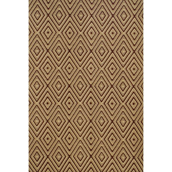 Dash & Albert - Diamond Brown/Khaki Indoor/Outdoor Rug